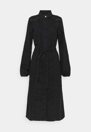 PCROSIE MIDI STUD DRESS - Robe en jean - black