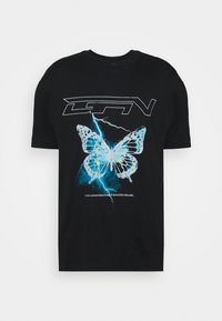 Good For Nothing - WITH ELECTRIC BUTTERFLY - Print T-shirt - black - 3