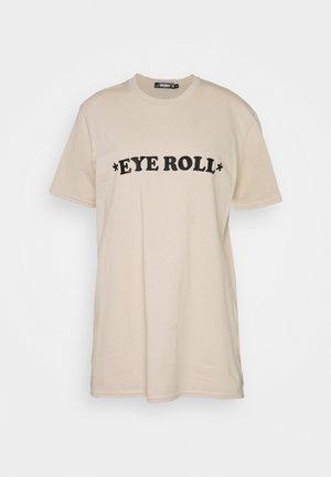 TALL EYE ROLL - T-shirt print - beige