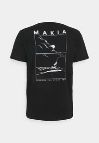Makia - FYR - Triko spotiskem - black - 1