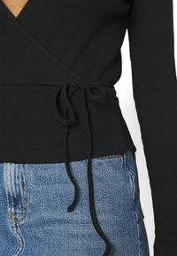 Envii - ENALLY TEE - Long sleeved top - black - 5