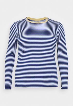 CARTINE  - Long sleeved top - blue/white