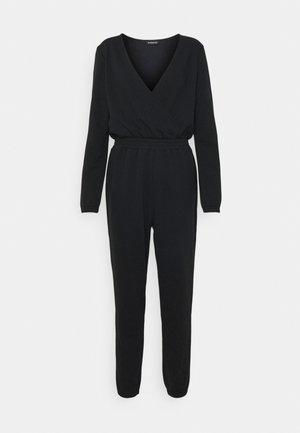 SWEAT CACHE COEUR WAISTED JUMPSUIT - Jumpsuit - black