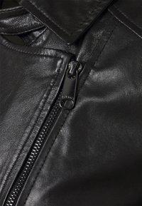 MAX&Co. - BAMBU - Leather jacket - black - 2