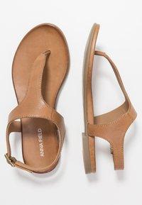 Anna Field - LEATHER - T-bar sandals - cognac - 3