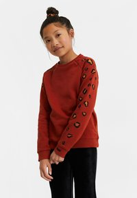 WE Fashion - MET EMBROIDERY - Sweater - orange - 0