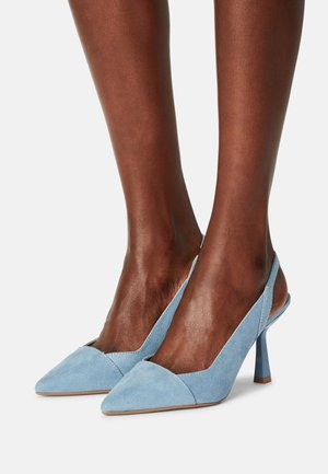 WIDEDESIRE POINT SLING COURT - Classic heels - blue