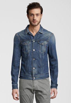 REPLAY JEANSJACKE USED-LOOK - Denim jacket - dunkelblau
