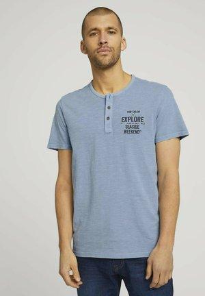 Print T-shirt - yonder blue