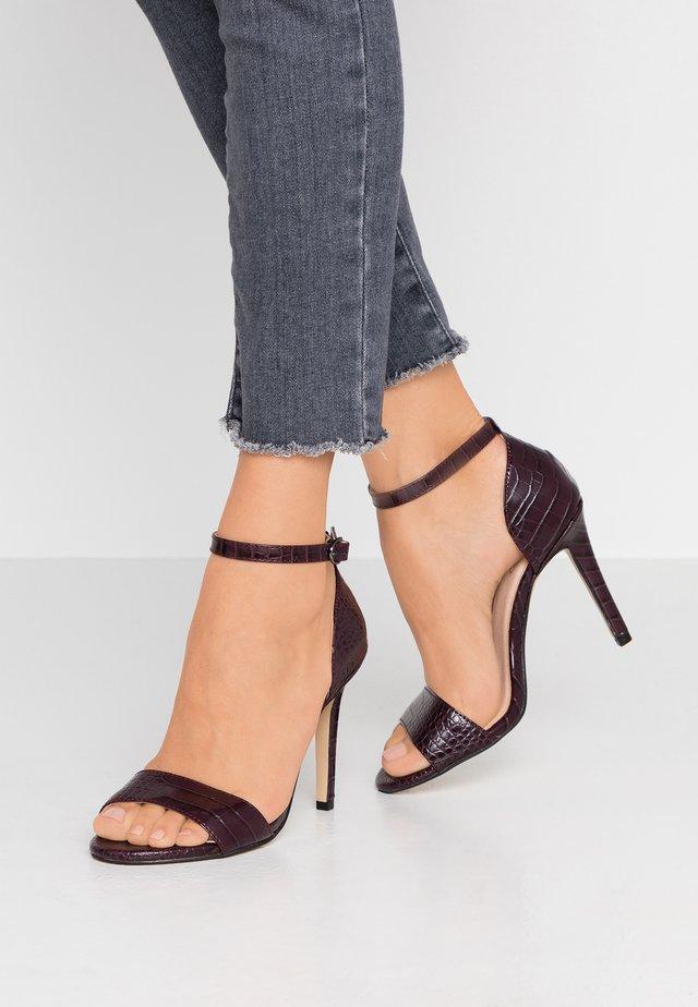 BIAAJA BASIC  - High heeled sandals - burgundy