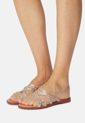 MARIA - Pantofle - beige/platino