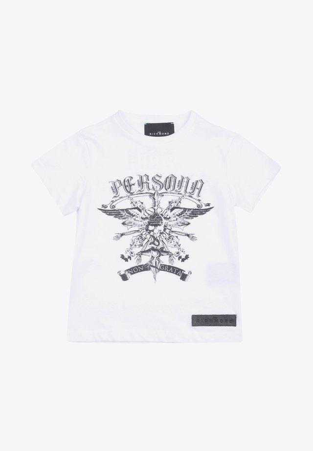 BAMBINO JOHN RICHMOND RBA20143TS - T-shirt print - bianco
