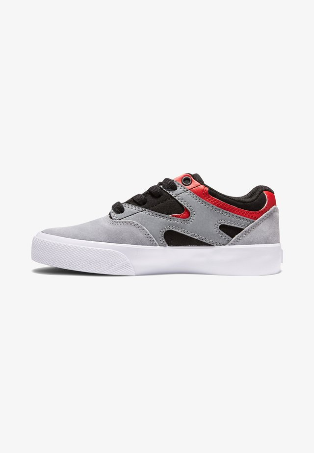 KALIS VULC - Sneakers laag - black/grey/red