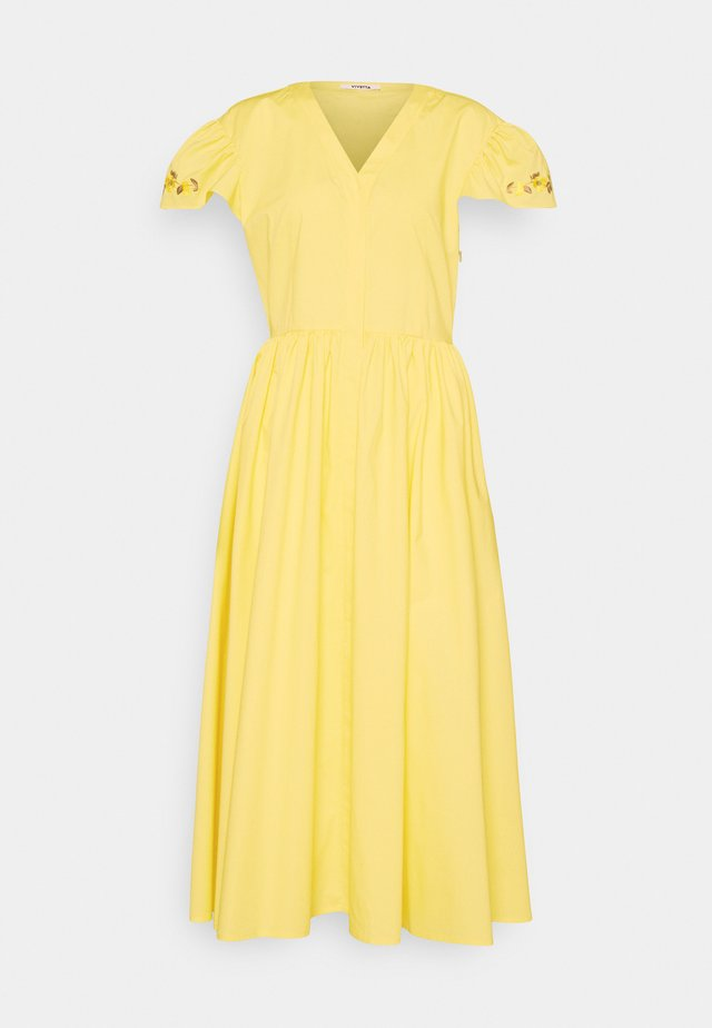 DRESS - Kjole - yellow
