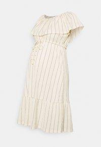 MAMALICIOUS - MLTHEA OFF SHOULDER - Day dress - ecru/black - 0
