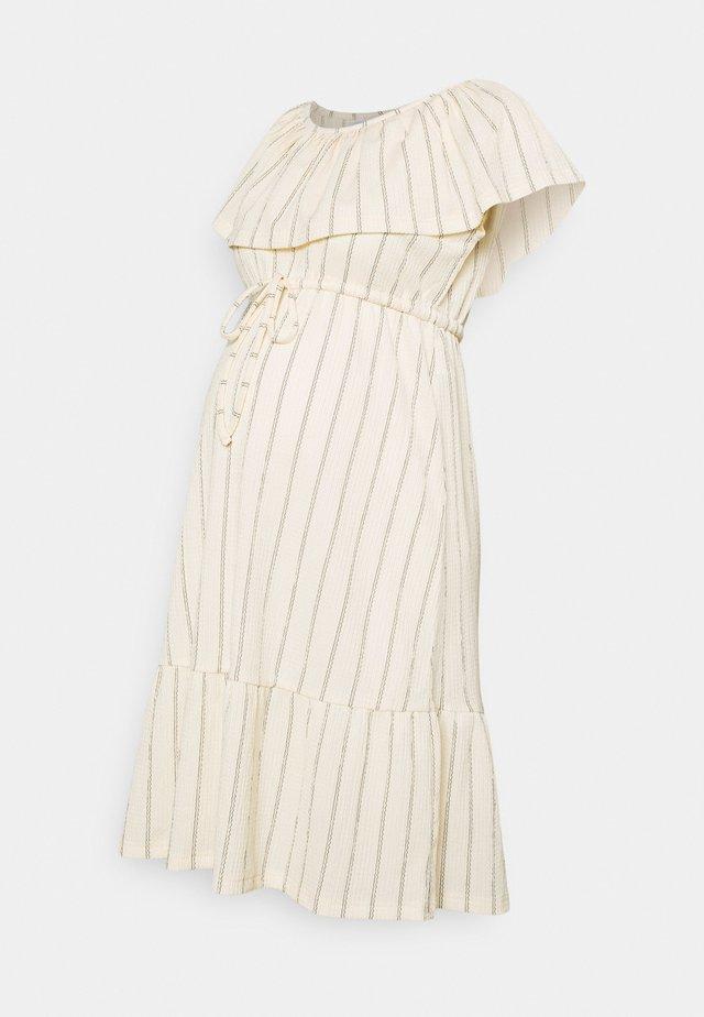 MLTHEA OFF SHOULDER - Denní šaty - ecru/black