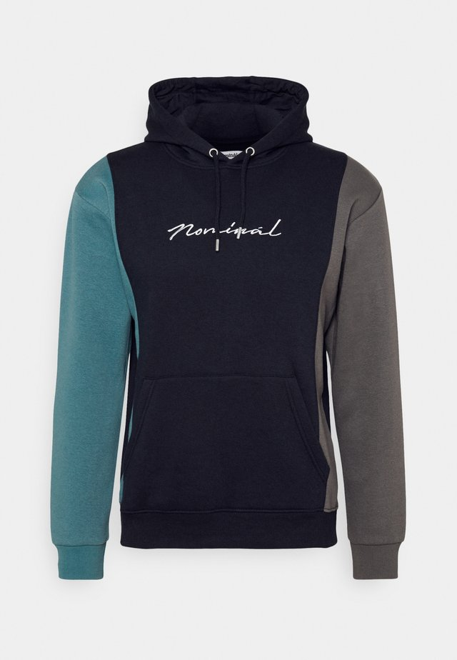 PANEL HOOD - Sweatshirt - navy