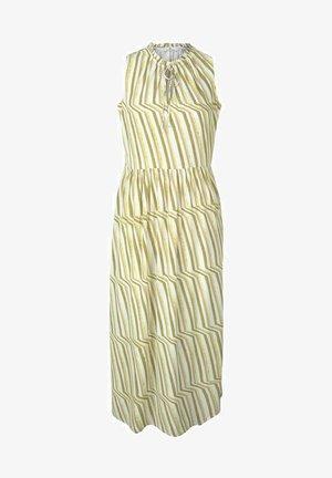 Day dress - green watercolor stripe