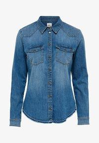 ONLY - RAW - Camisa - medium blue denim - 4