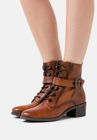 Bugatti - RUBY - Lace-up ankle boots - cognac - 0