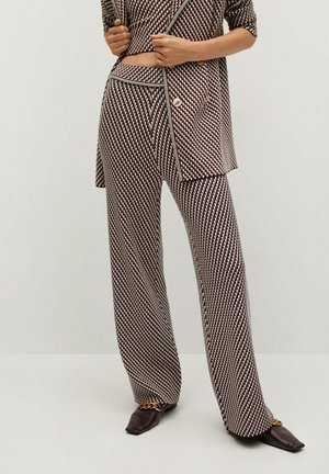 ABEILLE - Trousers - granatrot