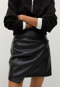 Mango - Wrap skirt - noir - 3