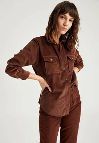 DeFacto - Button-down blouse - brown - 3