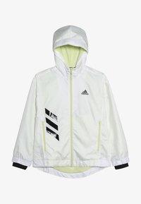 adidas Performance - Training jacket - white/yeltin/black - 3