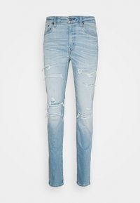 American Eagle - LIGHT DESTROY SLIM FIT - Jeans Tapered Fit - authentic light - 0