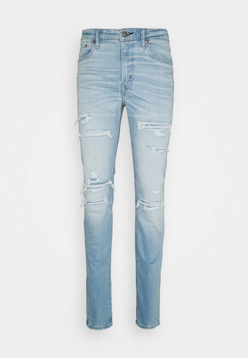 American Eagle - LIGHT DESTROY SLIM FIT - Jeans Tapered Fit - authentic light