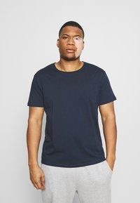 LTB - 3 PACK - Basic T-shirt - navy/ bordeaux/ white - 5
