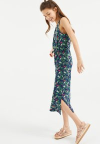 WE Fashion - MET BLADERENDESSIN - Maxi-jurk - all-over print - 0
