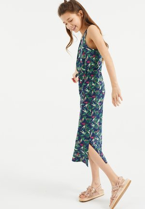 MET BLADERENDESSIN - Maxi-jurk - all-over print