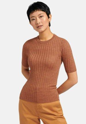T-shirt basique - kastanie-melange