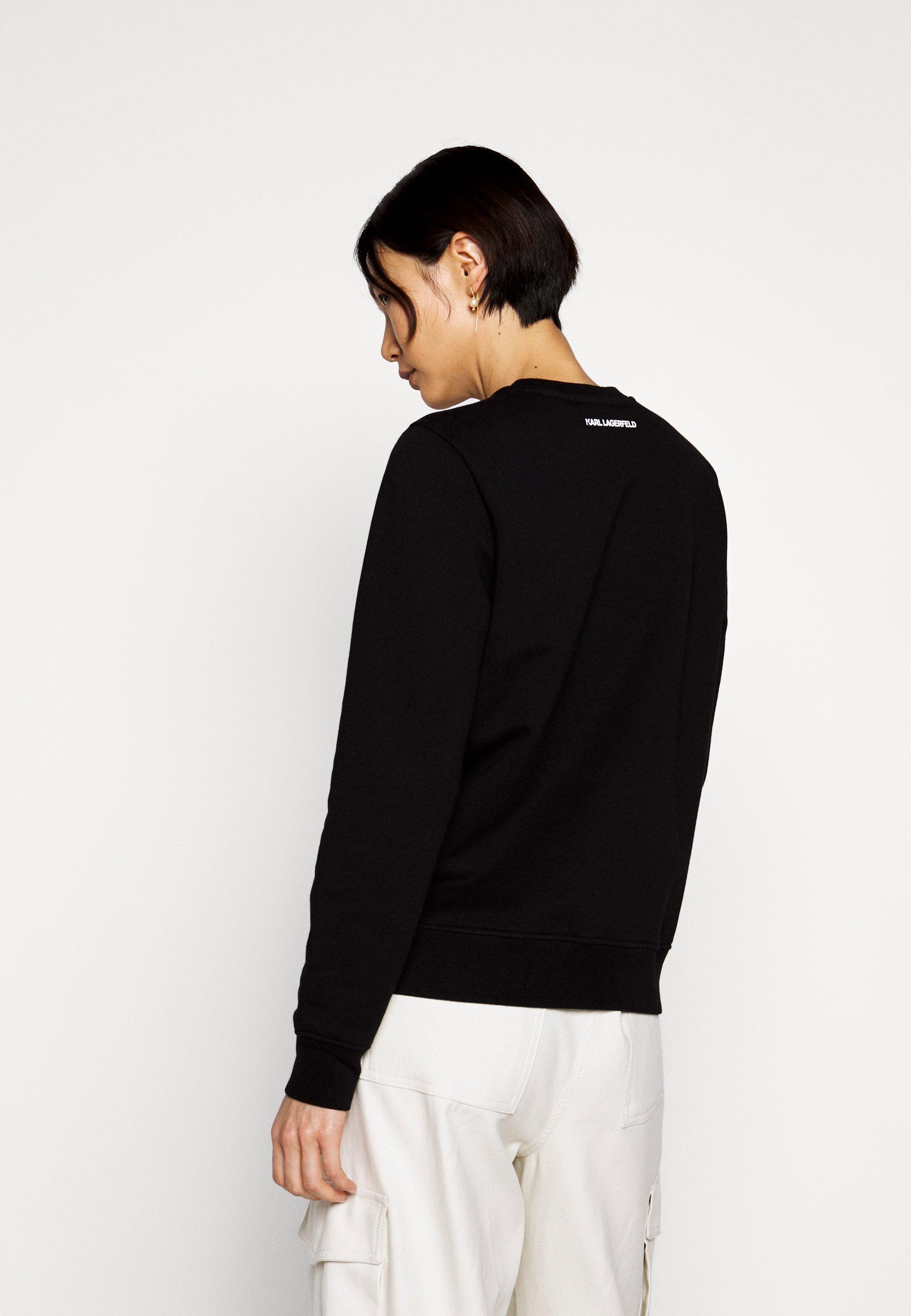 2020 Cool Women's Clothing KARL LAGERFELD IKONIK Sweatshirt black qqqITyziT