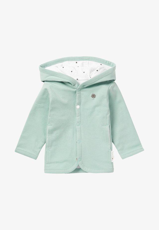 Zip-up hoodie - grey mint