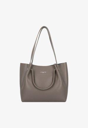 CABAS EPAULE - Handbag - gris in vert paon