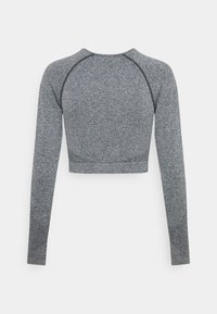NU-IN - SEAMLESS TWO TONE LONG SLEEVE CROPPED - Long sleeved top - grey marl - 1