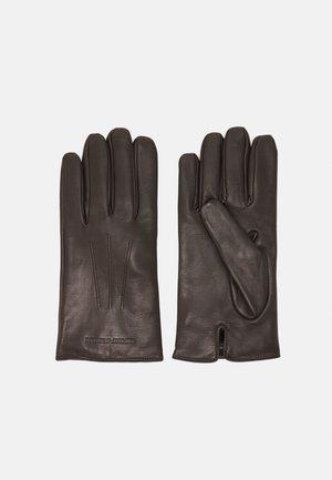 GUANTO CON BAGUETTE GLOVES UNISEX - Fingervantar - brown