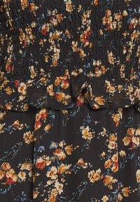 Missguided - FLORAL HIGH NECK MIDI DRESS - Robe d'été - black - 2