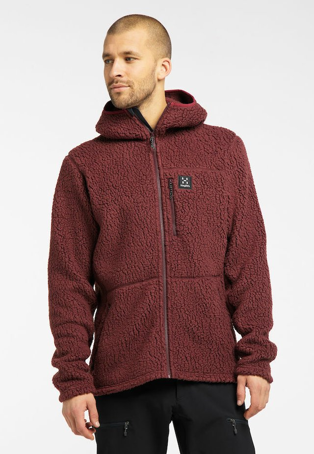 HOOD MEN - Fleecejacka - maroon red