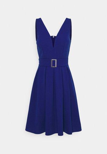 DEBBIE BUCKLE SKATER DRESS - Vestito elegante - electric blue