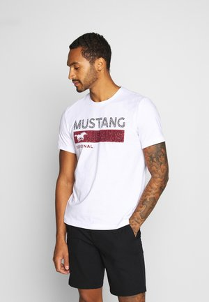 ALEX - T-shirt z nadrukiem - white
