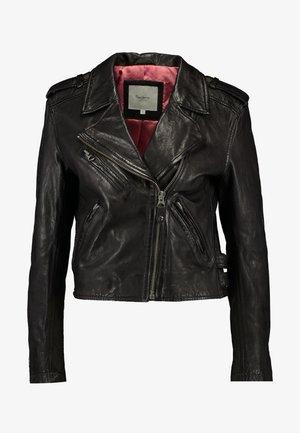 BERA - Leather jacket - black