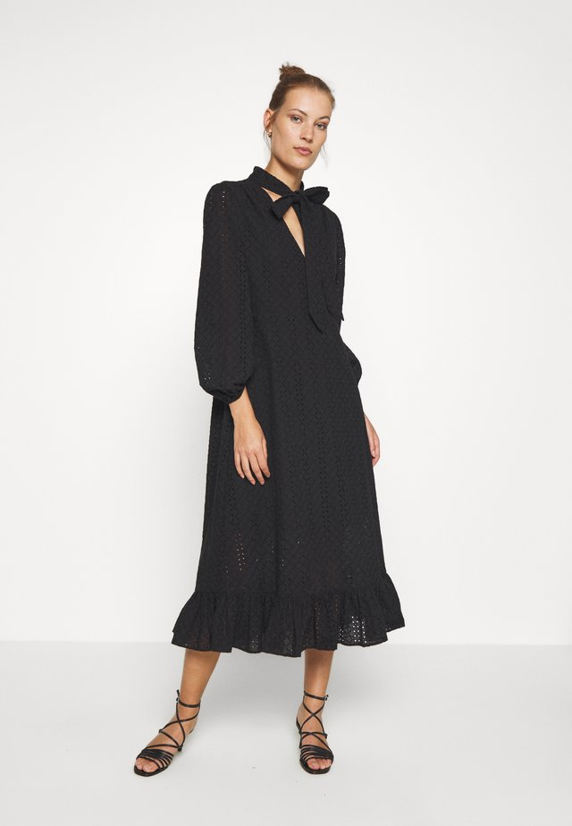 BRONWYN MIDI DRESS - Paitamekko - black