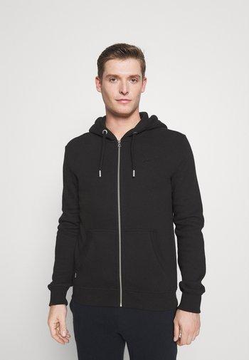 VINTAGE LOGO ZIPHOOD - Zip-up sweatshirt - black