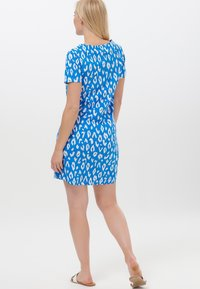 Sugarhill Brighton - ARIANE IKAT LEOPARD - Jersey dress - blue - 2