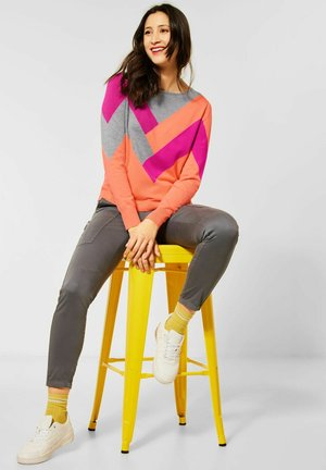 MIT COLOURBLOCK - Jumper - orange
