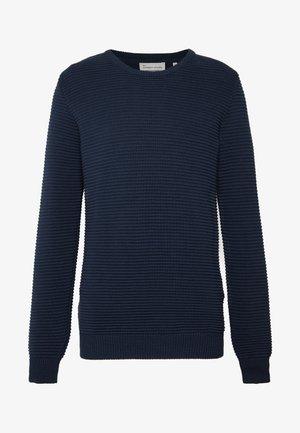 THE ORGANIC PLAIN - Stickad tröja - navy blazer