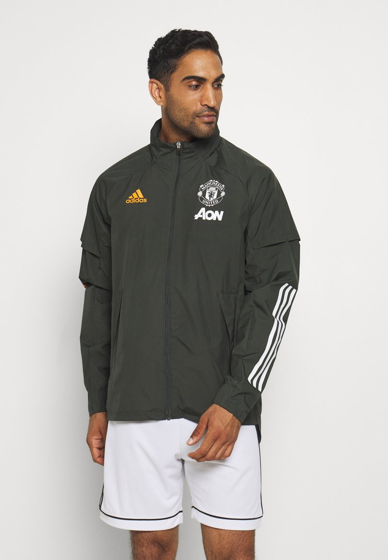 adidas Performance - MANCHESTER UNITED SPORTS FOOTBALL JACKET - Equipación de clubes - olive